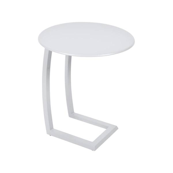 Fermob Alize Offset Low Table in Cotton White