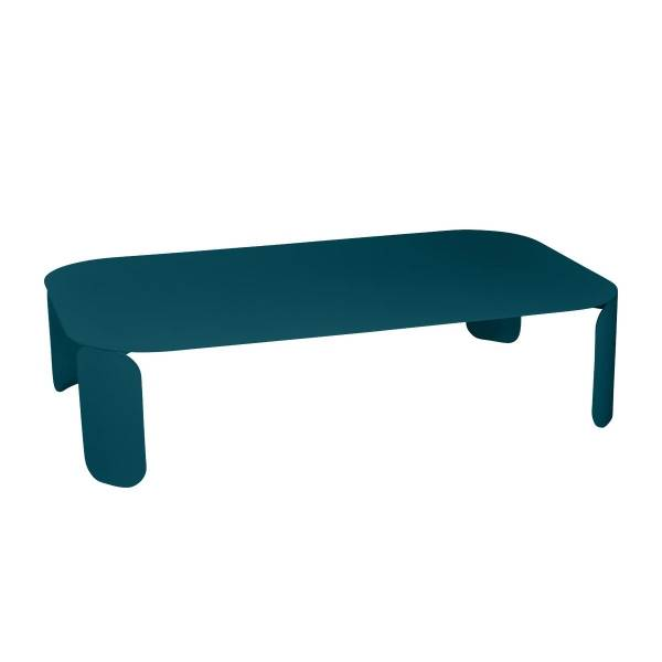 Fermob Bebop Low Table 120 x 70cm - 29cm High in Acapulco Blue