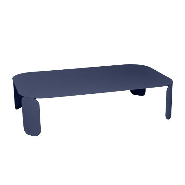 Fermob Bebop Low Table 120 x 70cm - 29cm High in Deep Blue