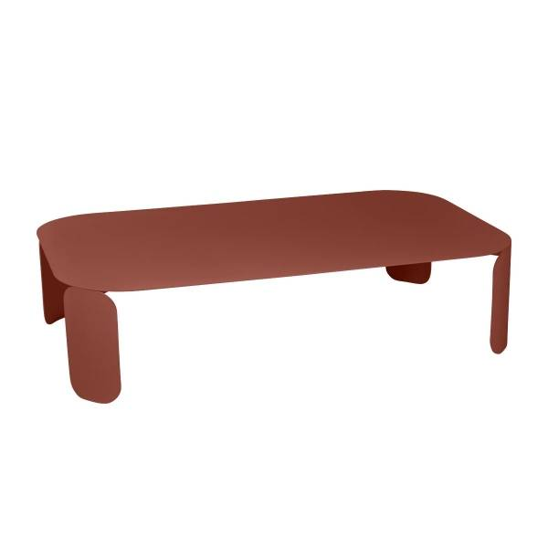 Fermob Bebop Low Table 120 x 70cm - 29cm High in Red Ochre