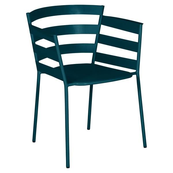 Fermob Rythmic Armchair in Acapulco Blue