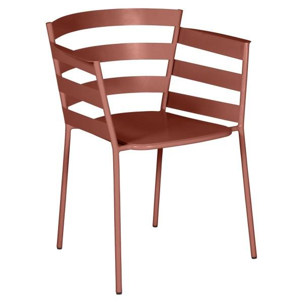 Fermob Rythmic Armchair in Red Ochre