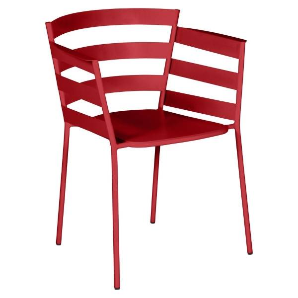 Fermob Rythmic Armchair in Chilli