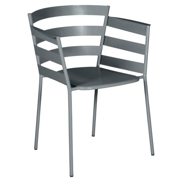 Fermob Rythmic Armchair in Storm Grey