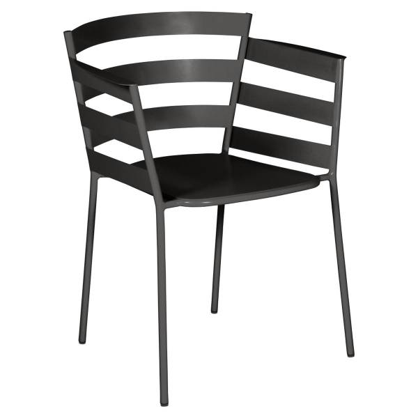 Fermob Rythmic Armchair in Liquorice
