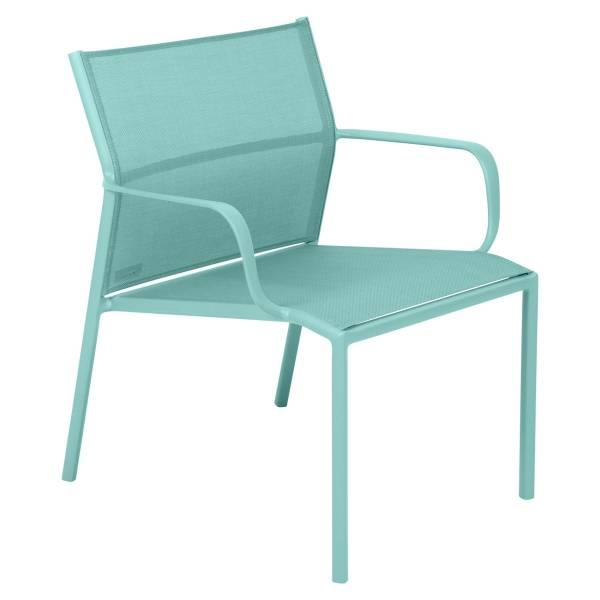 Fermob Cadiz Low Armchair in Lagoon Blue