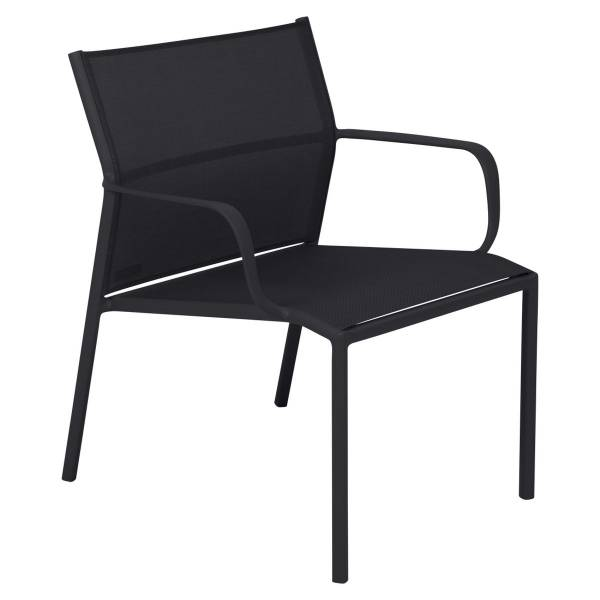 Fermob Cadiz Low Armchair in Liquorice