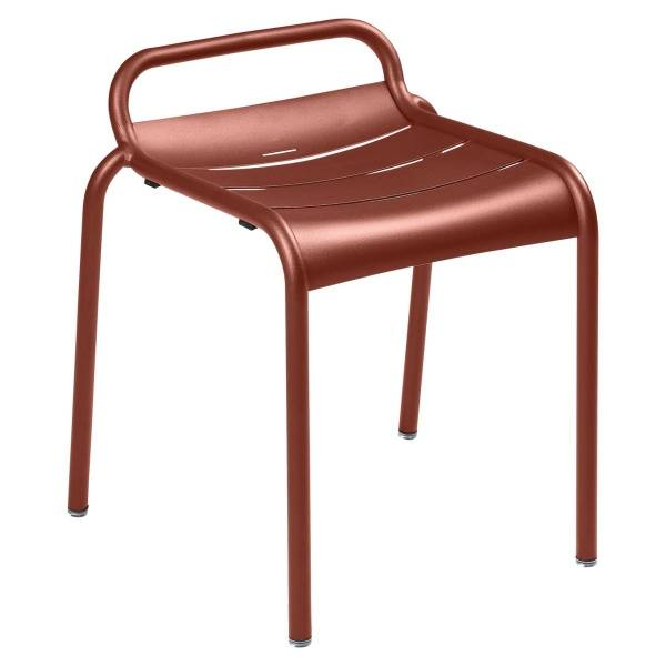 Luxembourg Stool in Red Ochre