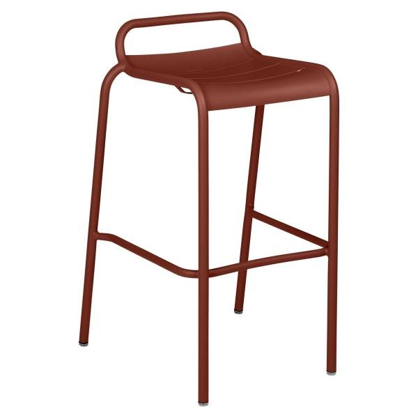 Luxembourg Bar Stool in Red Ochre