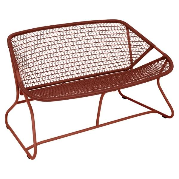Fermob Sixties Bench in Red Ochre
