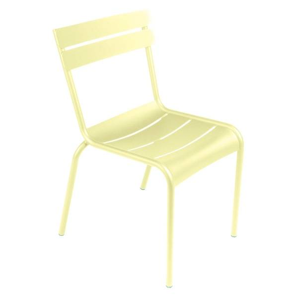 Fermob Luxembourg Chair in Frosted Lemon