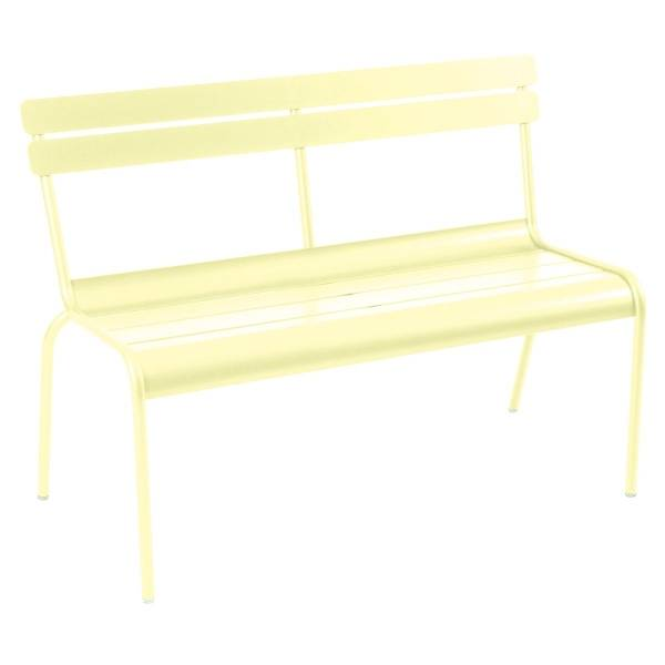 Fermob Luxembourg Bench with Back in Frosted Lemon