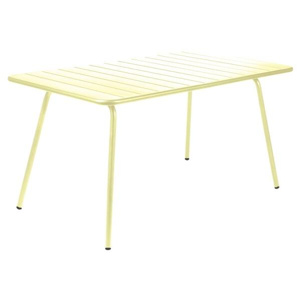 Fermob Luxembourg Table 143 x 80cm in Frosted Lemon