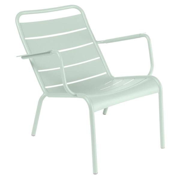 Fermob Luxembourg Low Armchair in Ice Mint