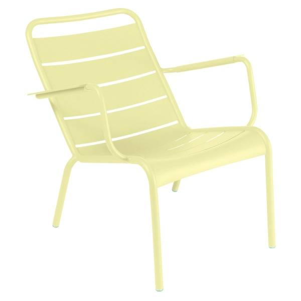 Fermob Luxembourg Low Armchair in Frosted Lemon