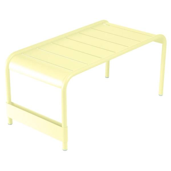 Fermob Luxembourg Large Low Table And Garden Bench in Frosted Lemon