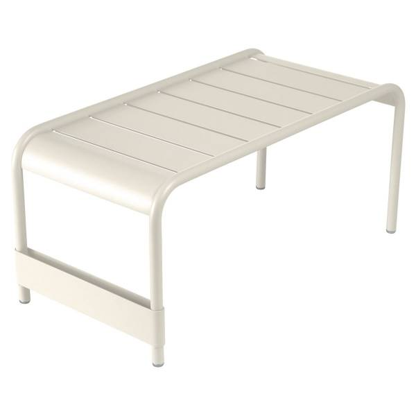 Fermob Luxembourg Large Low Table And Garden Bench in Clay Grey