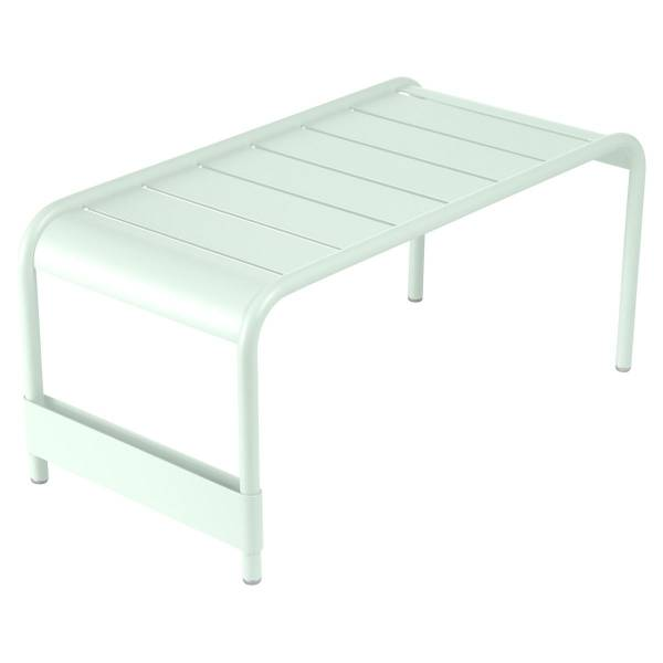 Fermob Luxembourg Large Low Table And Garden Bench in Ice Mint