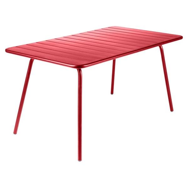 Fermob Luxembourg Table 143 x 80cm in Poppy