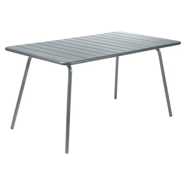 Fermob Luxembourg Table 143 x 80cm in Storm Grey