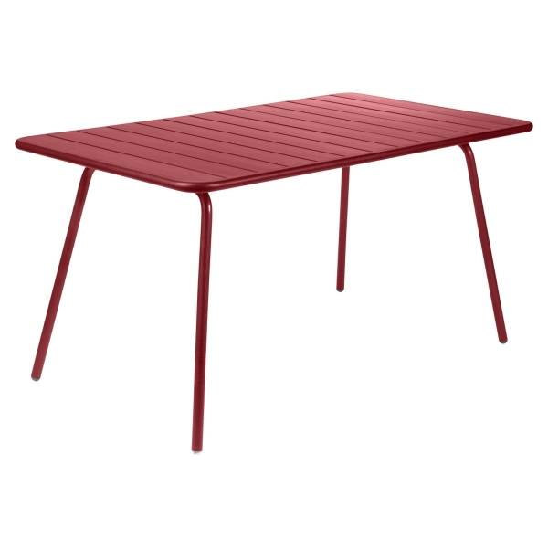 Fermob Luxembourg Table 143 x 80cm in Chilli
