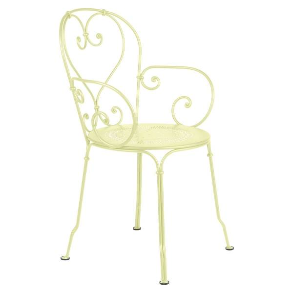 Fermob 1900 Armchair in Frosted Lemon