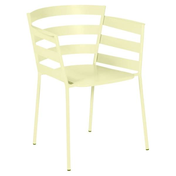 Fermob Rythmic Armchair in Frosted Lemon