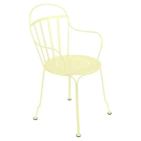 Fermob Louvre Armchair in Frosted Lemon