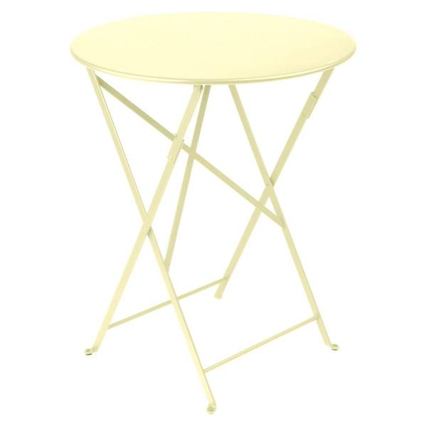 Fermob Bistro Table Round 60cm in Frosted Lemon