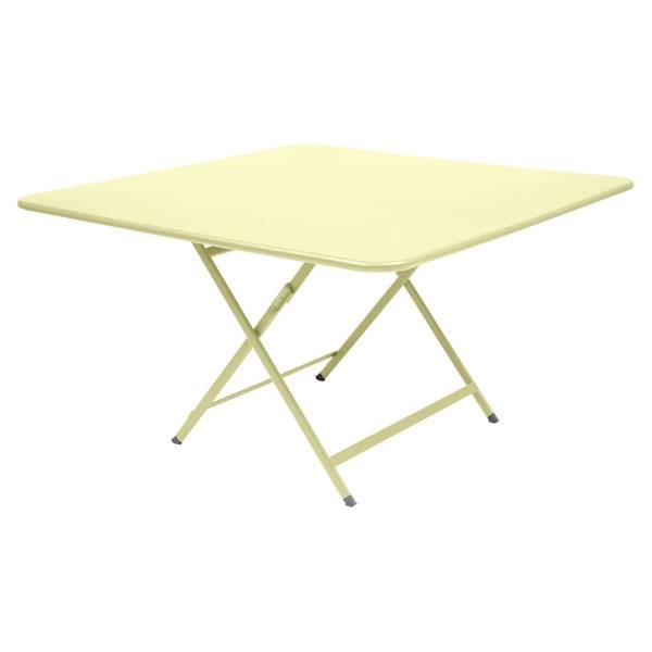 Fermob Caractère Table 128 x 128cm in Frosted Lemon