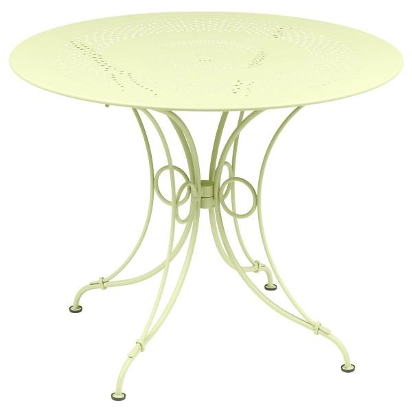 Fermob 1900 Table Round 96cm in Frosted Lemon