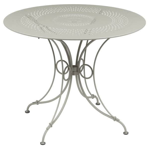 Fermob 1900 Table Round 96cm in Clay Grey
