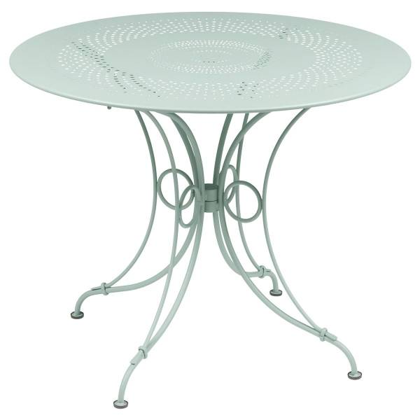 Fermob 1900 Table Round 96cm in Ice Mint