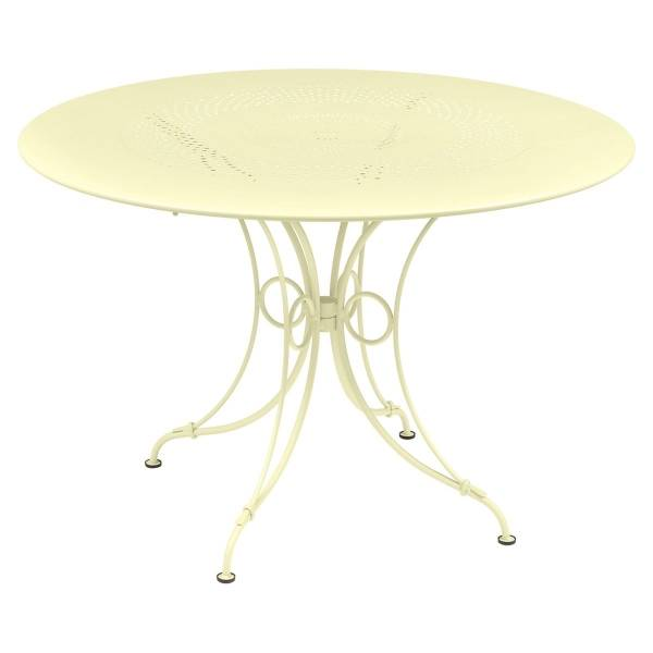 Fermob 1900 Table Round 117cm in Frosted Lemon