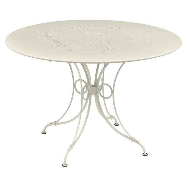 Fermob 1900 Table Round 117cm in Clay Grey