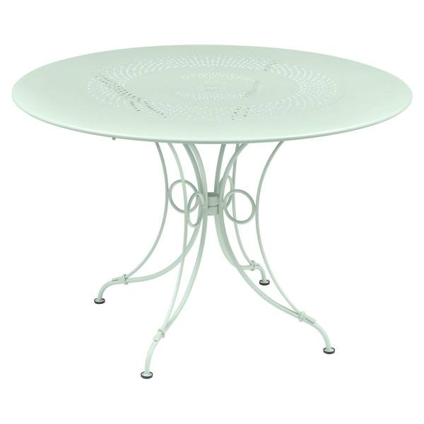 Fermob 1900 Table Round 117cm in Ice Mint