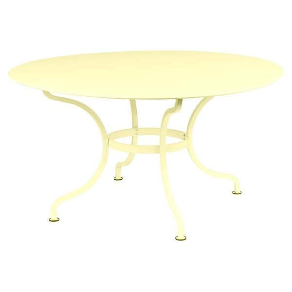 Fermob Romane Table Round  137cm in Frosted Lemon