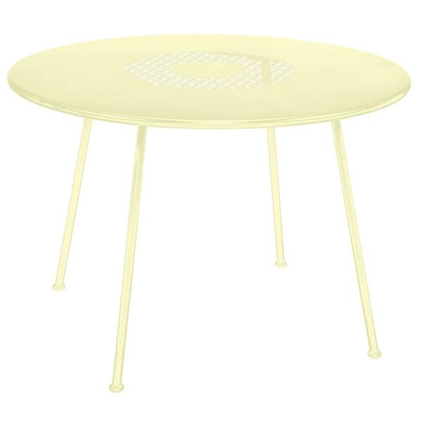 Fermob Lorette Table Round 110cm in Frosted Lemon