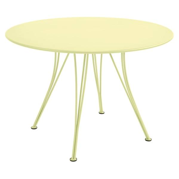 Fermob Rendez-vous Table Round 110cm in Frosted Lemon