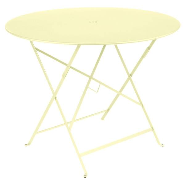 Fermob Bistro Table Round 96cm in Frosted Lemon