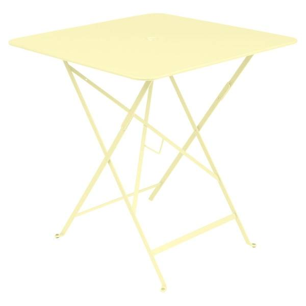 Fermob Bistro Table Square 71 x 71cm in Frosted Lemon