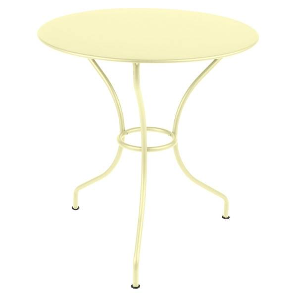 Fermob Opera Round Table 67cm in Frosted Lemon