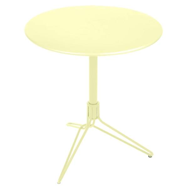 Fermob Flower Pedestal Table Round 67cm in Frosted Lemon