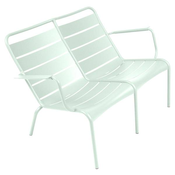 Fermob Luxembourg Low Armchair Duo in Ice Mint