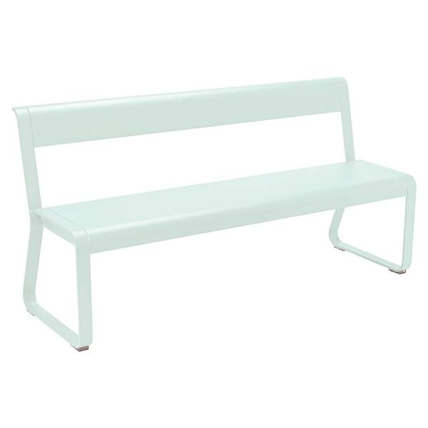 Fermob Bellevie Bench with Back in Ice Mint