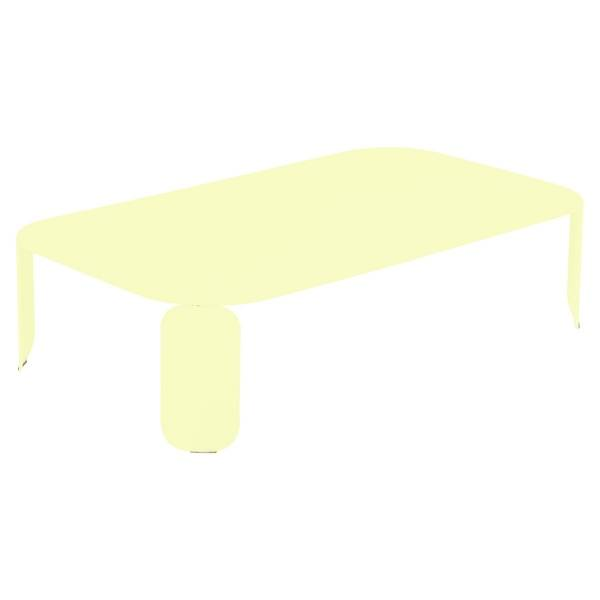 Fermob Bebop Low Table 120 x 70cm - 29cm High in Frosted Lemon