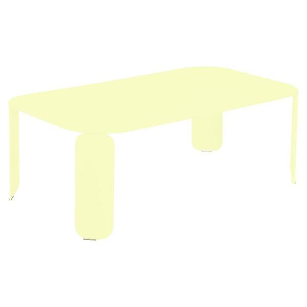 Fermob Bebop Low Table 120 x 70cm - 42 cm High in Frosted Lemon