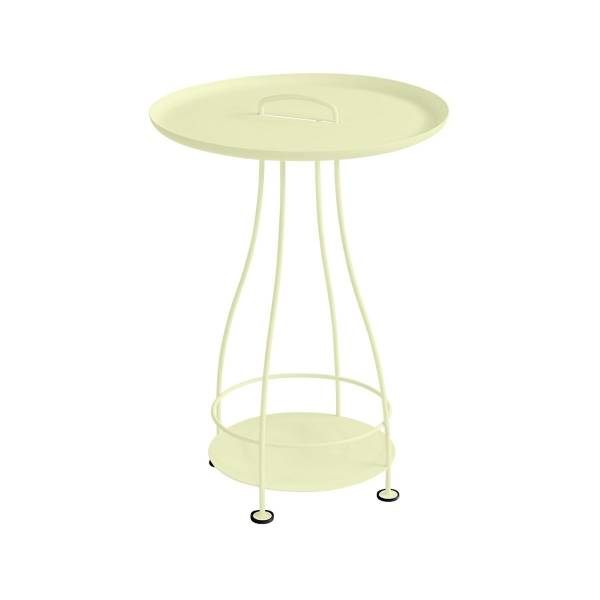 Fermob Happy Hours Pedestal Table in Frosted Lemon