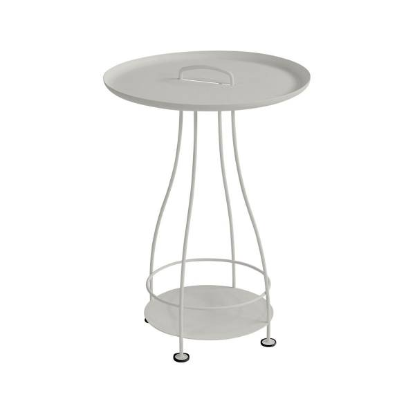 Fermob Happy Hours Pedestal Table in Clay Grey