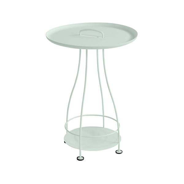 Fermob Happy Hours Pedestal Table in Ice Mint
